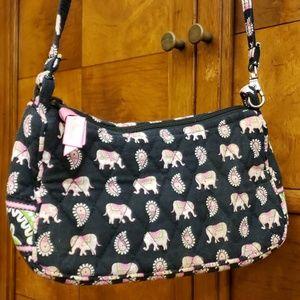 Vera Bradley Pink Elephant Quilted Bag
